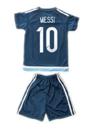 子供用 15-16 サッカー ユニフォーム アルゼンチン AWAY 10番 メッシ