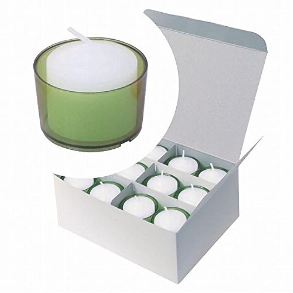 散文コードエキスカメヤマキャンドル(kameyama candle) カラークリアカップボーティブ6時間タイプ 24個入り 「 グリーン 」