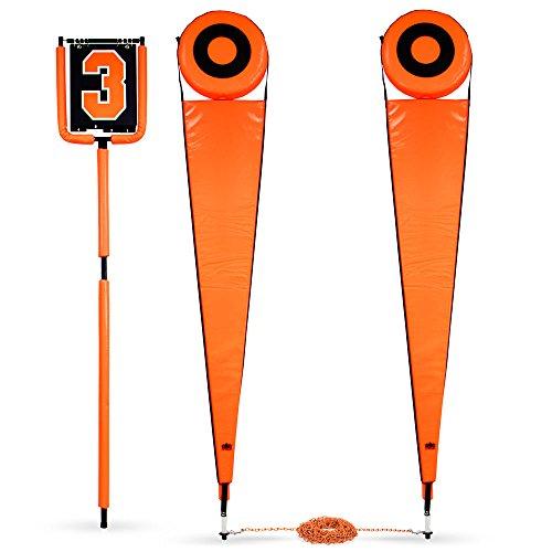 クラウンスポーツ用品Football Downマーカー&チェーンクルーセット、オレンジ