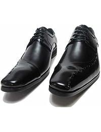 脚長4.0cmヒール TRU TRUSSADI トラサルディ 紳士靴 ビジネスシューズ 本革 レース外羽根 ワンサイドステッチモカ [ブラック/黒・ブラウン/茶]tr10251