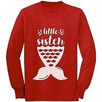 Girl Little Sister Shirt Mermaid Sibling Outfit Toddler Kids Long Sleeve T-Shirt