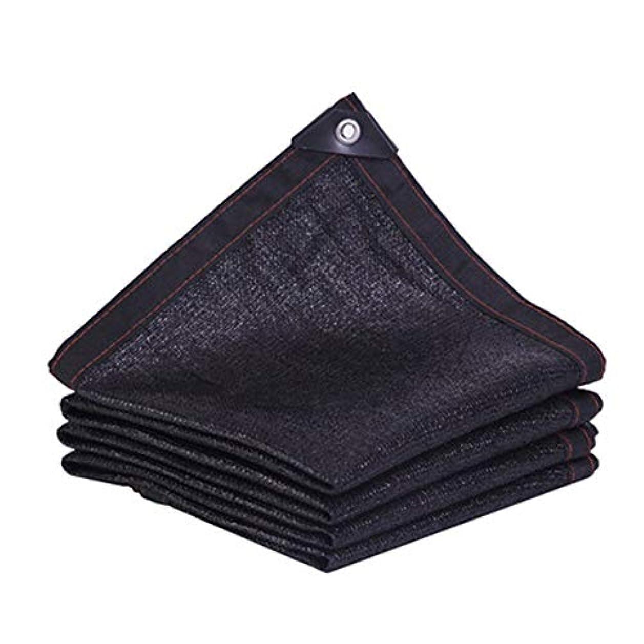 正確なふくろうオフ遮光布 遮光ネット ポリエチレン、 厚い暗号化 24サイズ 中庭のバルコニー/シェードシェード/ルーフ冷却,Black,2*6m