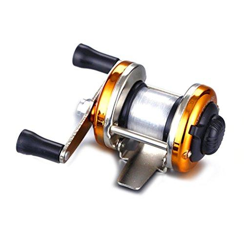 AOTSURI(アオツリ) リール 穴釣り 糸付ベイトリール 釣りライン付け ゴールド