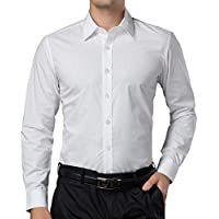 Paul Jones Men's Slim Fit Casual Button Down Business Dress Shirt