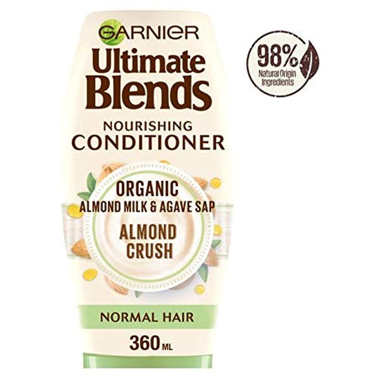 指紋作ります化粧[Ultimate Blends ] ガルニエ究極は、アーモンドミルク、通常のヘアコンディショナー360ミリリットルをブレンド - Garnier Ultimate Blends Almond Milk Normal Hair...