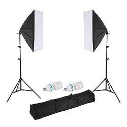 Meking 写真撮影用セット 200cmライトスタンド+50 x70cmソフトボックス+150W 5500K CFL電球 (W803Ⅱセット) …