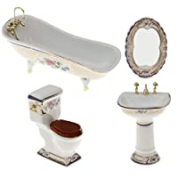 DYNWAVE ミニチュア 家具 1/12人形館ミニチュアキット 浴室セット 1/12ドールハウス 飾り 5色選択 - #3