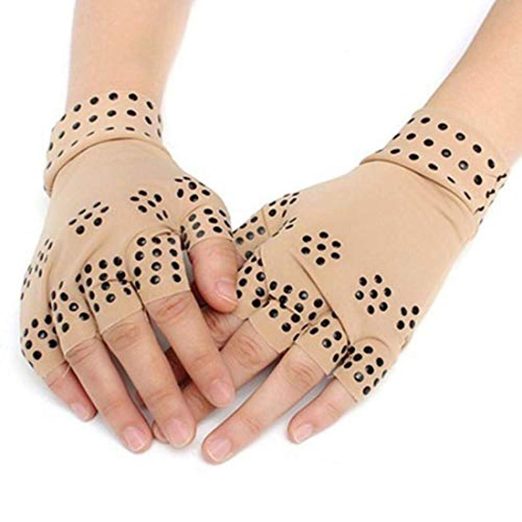 アプライアンス回転法律Angzhili 磁気手袋 関節炎療法手袋 着圧手袋 指なし手袋 磁気療法 関節炎 関節ストレス 手首サポーター 関節炎解消 リウマチ性手痛 1ペア