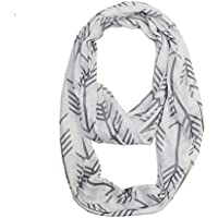 Premium Zipper Pocket Infinity Scarf Travel Scarf with Pockets Hidden Zipper Solid Colors
