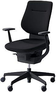 コクヨ イング イス ブラック クッションタイプ デスクチェア 事務椅子 座面が360°動く椅子 CR-G3203E6G4B6-WN