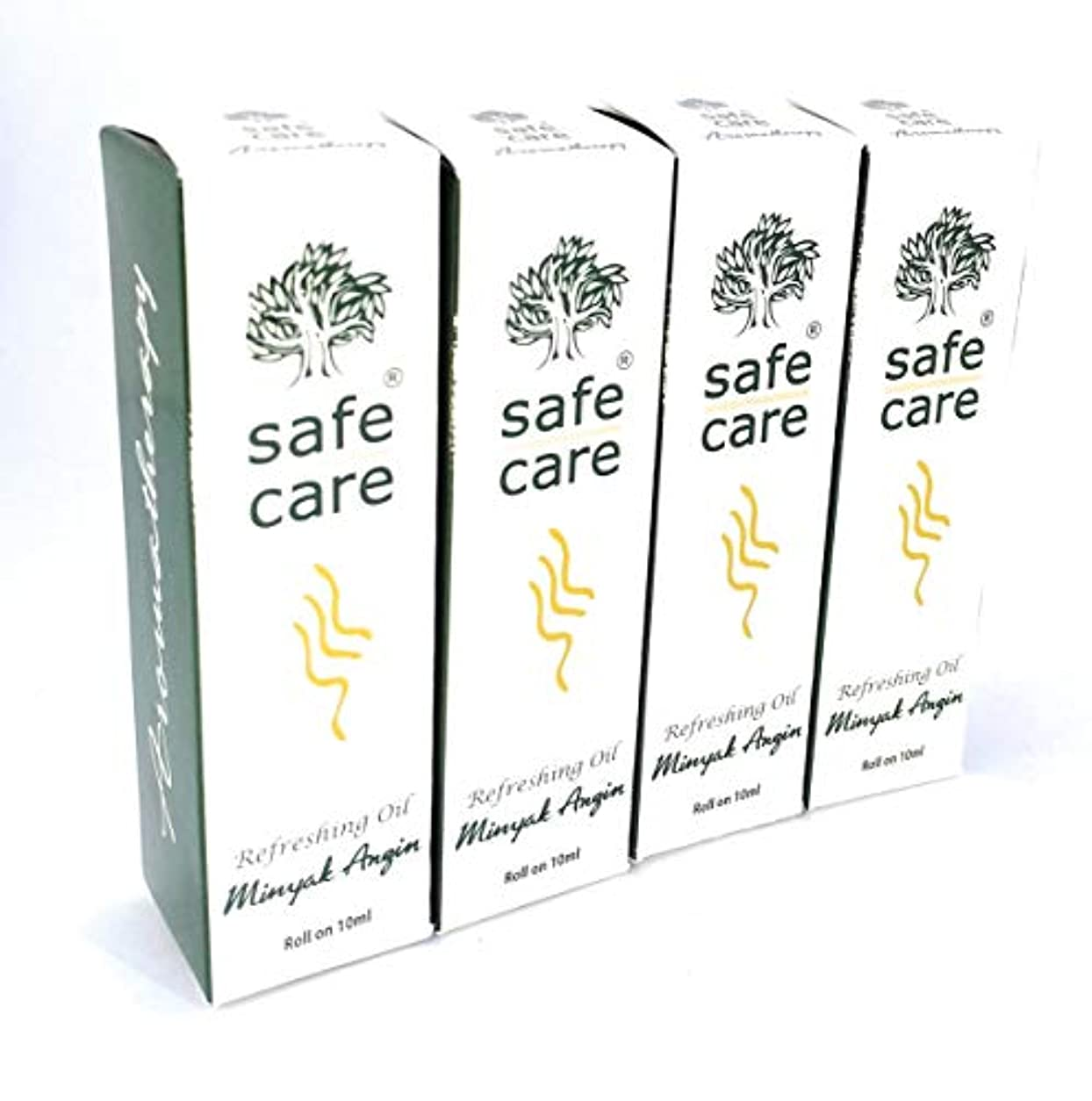 Safe Care セイフケア Aromatherapy Refreshing Oil アロマテラピー リフレッシュオイル ロールオン 10ml × 4本セット [並行輸入品][海外直送品]