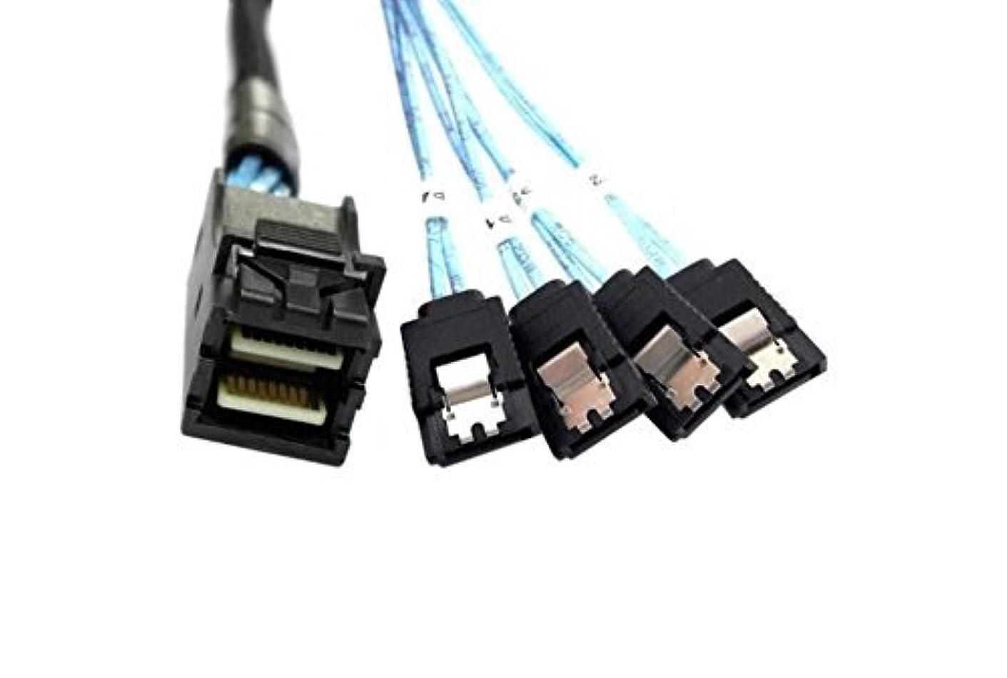 麦芽震えアジテーションcineraid内部HD 4ポートSATA to内部MiniSAS ( SFF - 8643 ) ( 1メートル/ 3.3フィート)