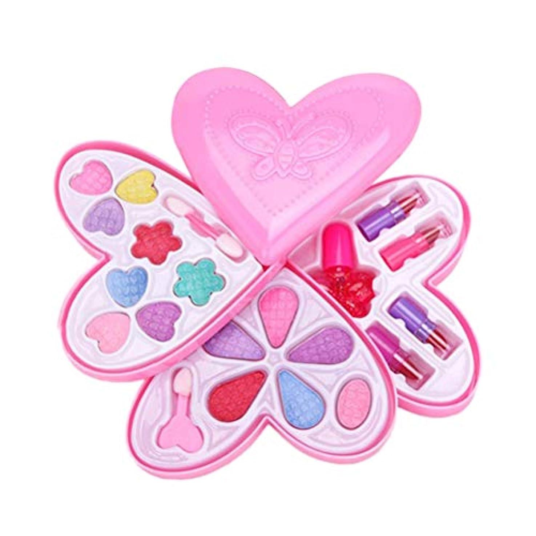 結紮妖精教養があるToyvian 1pcラブハート型4層子供の前置きプレイおもちゃのメイクボックスセット玩具