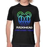 Radiohead レディオヘッド ラグラン 半袖 カジュアル 格好いい プリント 通学 男性 Tシャツ メンズ 野球ユニフォーム