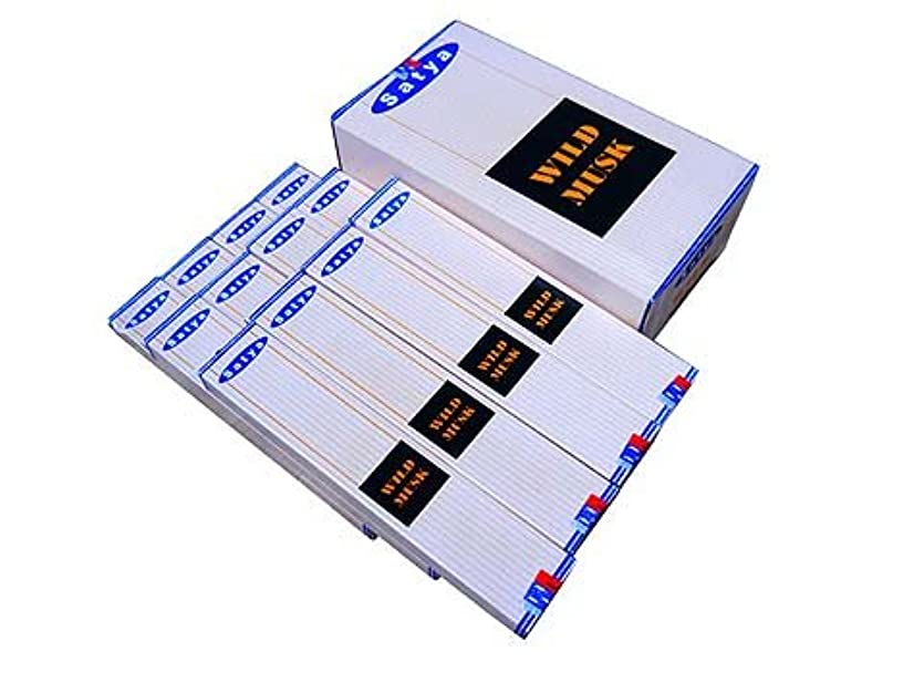 家事をする人工的なパイプSATYA(サチャ) ワイルドムスク香 スティック WILDMUSK 12箱セット