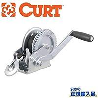 [CURT(カート)正規代理店]ハンドウィンチ ストラップ付 最大能力 1400LB 牽引力 約635.6kg 汎用