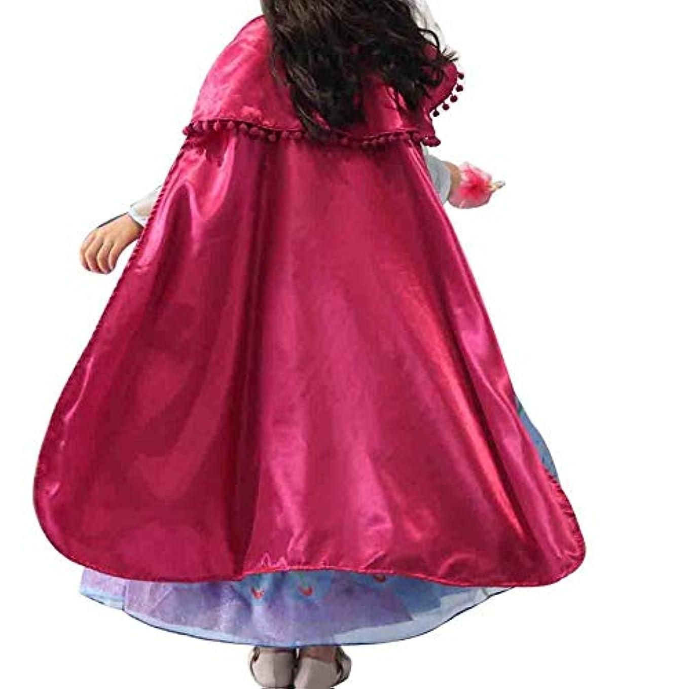 性能氏執着アナと雪の女王 ドレス キッズ アナ プリンセス なりきり 女王 お姫様 コスプレ ハロウィン衣装 子供ドレス 子供 アナ コスチューム衣装 仮装