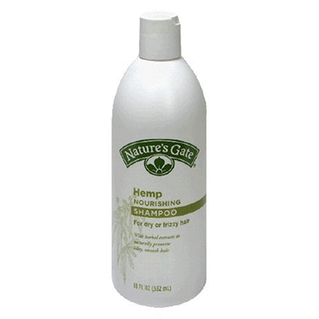 変位合図ヘッドレスNature's Gate Rainwater Shampoo Hemp 532 ml (並行輸入品)