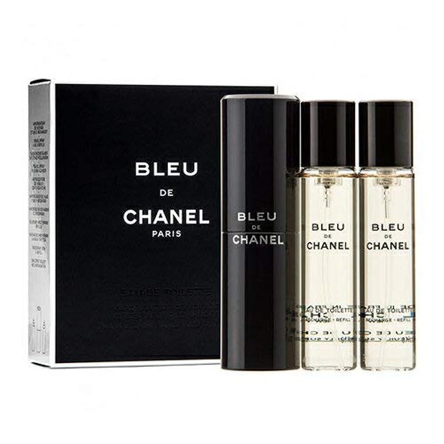 細胞スラム街ピアノ【トラベル スプレイ】 CHANEL BLEU DE CHANEL ブルー ドゥ シャネル トラベル スプレイ (20mL+リフィル 20mL×2)