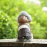 ABRRLO 犬の服 ドッグウェア ペット服 フード付き犬服 ダウンジャケットベスト コットンコート 二つの足 ペット用品 秋冬 洋服 防寒 厚い 可愛い 柔らかい 小中型犬 猫 子犬 お散歩 お出かけ