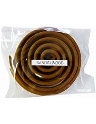 お香/うずまき香 SANDALWOOD サンダルウッド 直径6.5cm×5巻セット [並行輸入品]