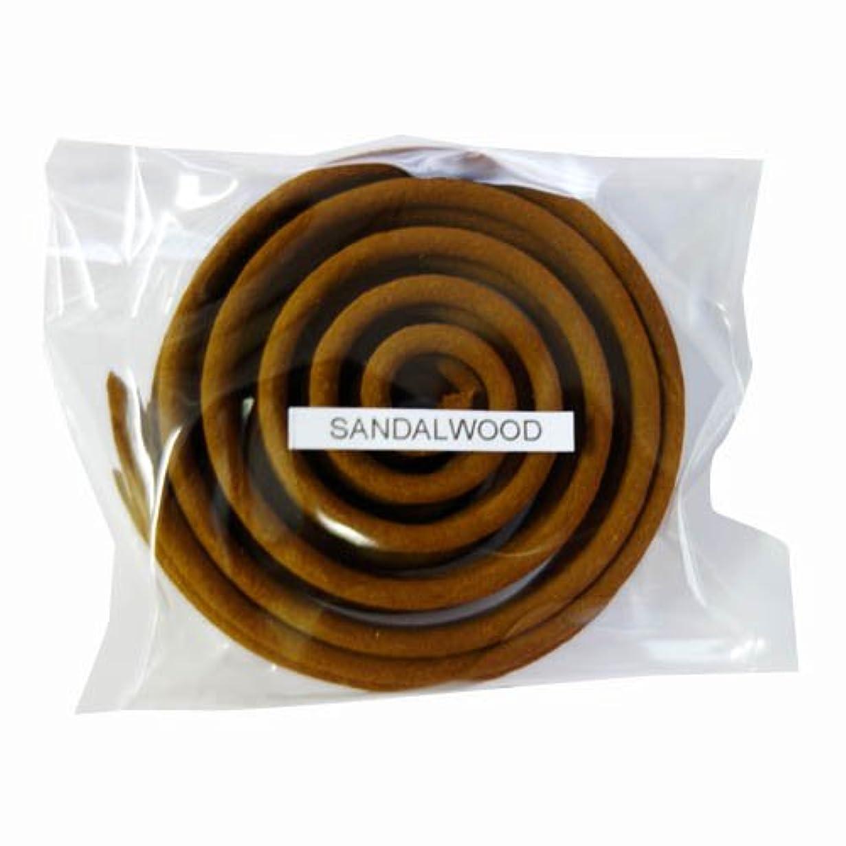 埋め込むポーン哀れなお香/うずまき香 SANDALWOOD サンダルウッド 直径6.5cm×5巻セット [並行輸入品]