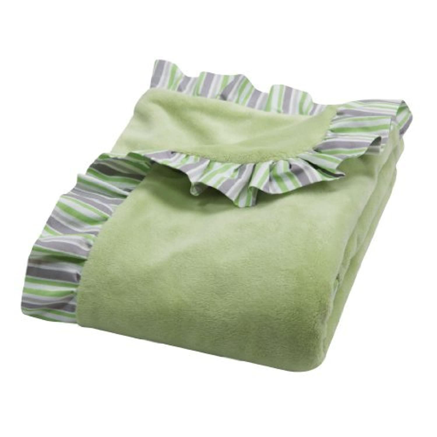 Trend Lab Lauren Ruffle Trimmed Receiving Blanket, Green by Trend Lab [並行輸入品]