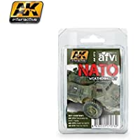 AK00073 AK Interactive - Nato Weathering Set vehicle pigment effects