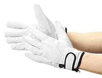 TRUSCO 豚革裏地付マジック止め式手袋M