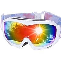 ICEPARDAL(アイスパーダル) スノーボード ゴーグル 曇り止め ダブルレンズ 簡単脱着 UVカット 日本企画品 全10色 IBP-782
