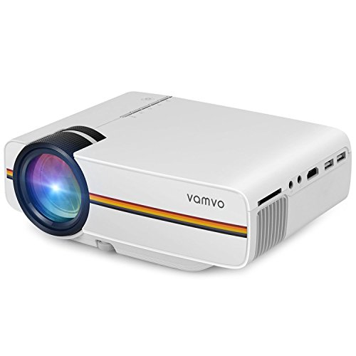 Vamvo LEDプロジェクター 1200ルーメン1080P パソコン/スマ...