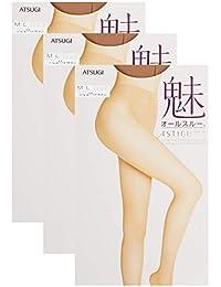 [アツギ] ストッキング ASTIGU (アスティーグ) 【魅】 素肌感 オールスルー 〈3足組〉