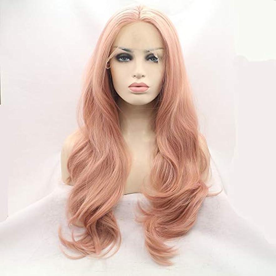 かつらキャップかつらで長いファンシードレスカール女性用高品質な人工毛髪コスプレ高密度かつら18インチ、20インチ、22インチ、24インチ、26インチ (Size : 22inch)