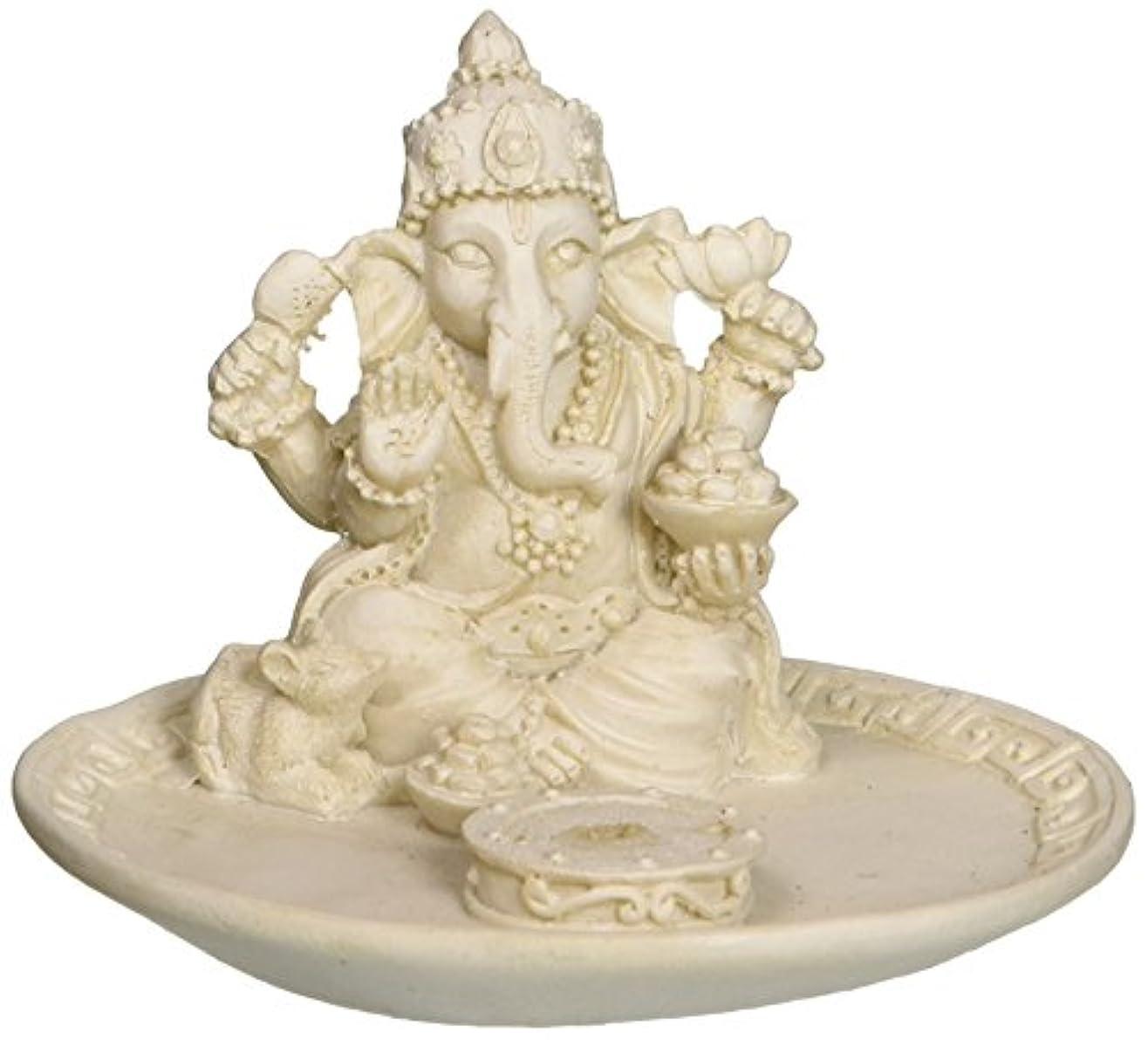 悲鳴自発灌漑White Beautiful Lord Ganesh Incense Sticks Holder - Ganesha, Laxmi, Shiva, Durga, Kali