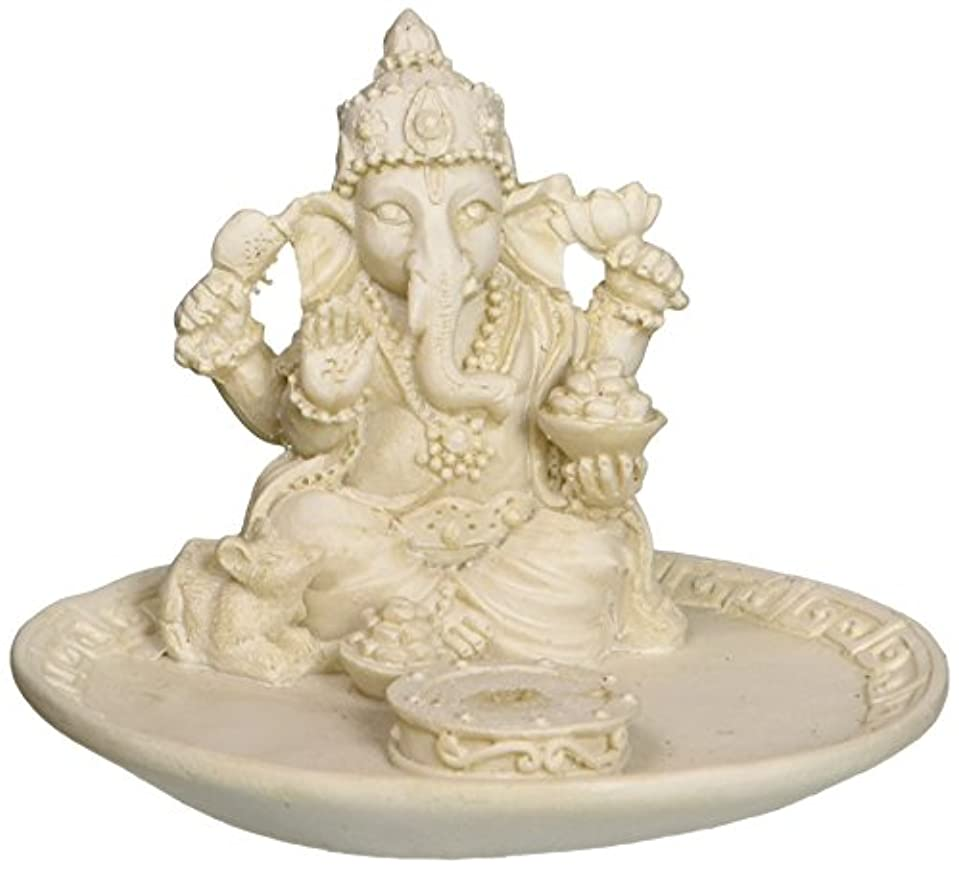 クロール永久に促すWhite Beautiful Lord Ganesh Incense Sticks Holder - Ganesha, Laxmi, Shiva, Durga, Kali