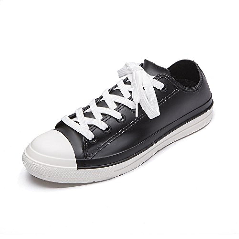 [YUB] レディース レインシューズ 防水雨靴 カジュアル靴 メンズ ローカット レインシューズ 通勤?通学 男女兼用 雨靴 全8色 …