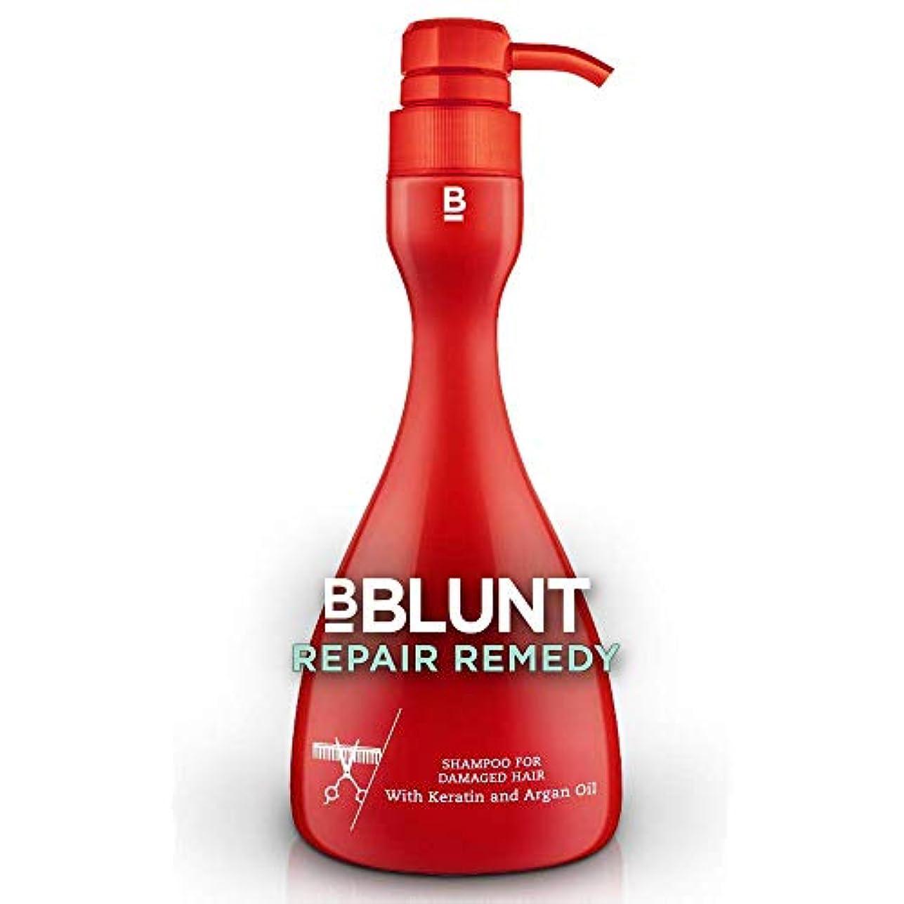 ランプズーム地上のBBLUNT Repair Remedy Shampoo for Damaged Hair, 400ml Pump Bottle (Keratin and Argan Oil)