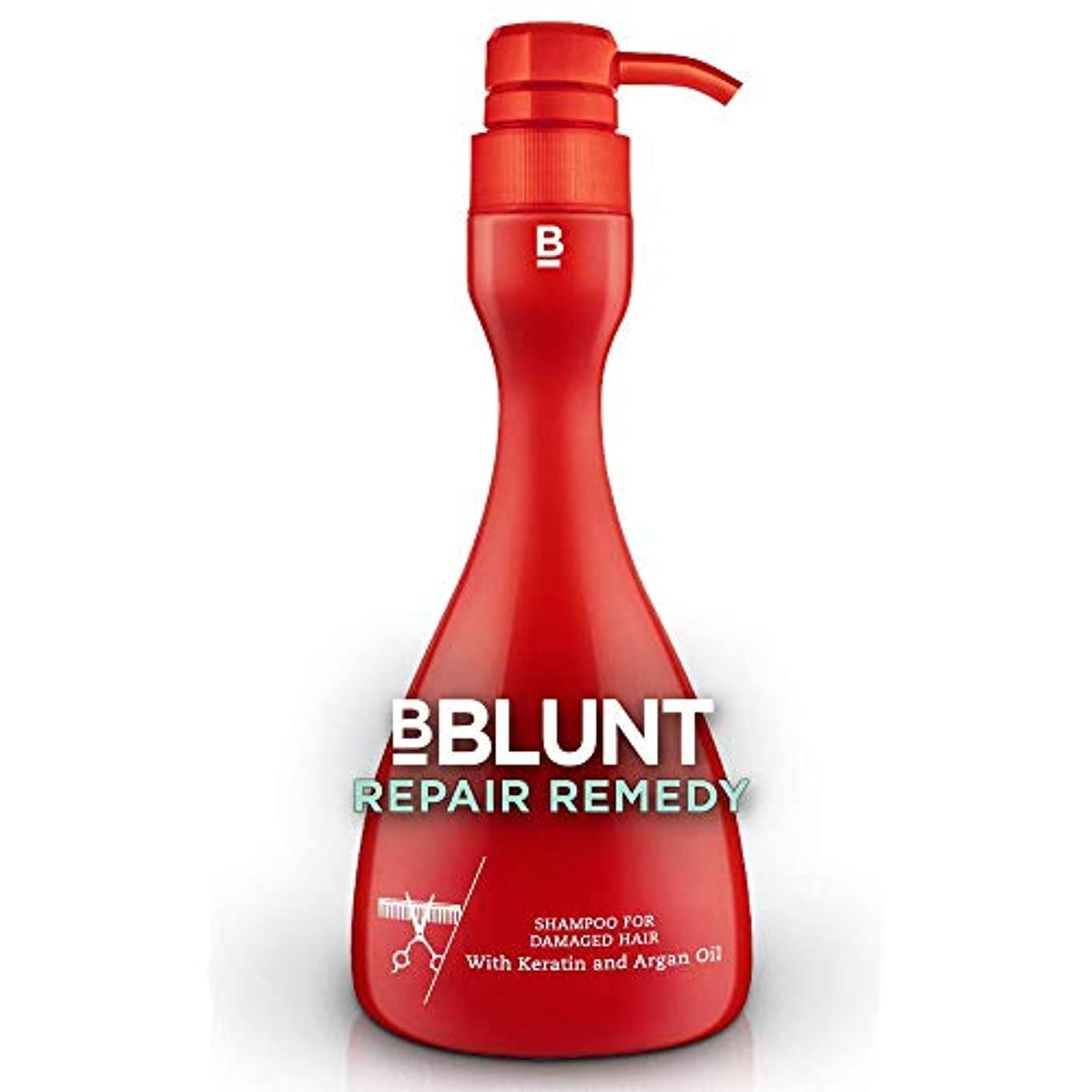 そこデコレーション励起BBLUNT Repair Remedy Shampoo for Damaged Hair, 400ml Pump Bottle (Keratin and Argan Oil)