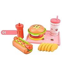 木玩社(きがんしゃ)のままごと 知育玩具 ホットドッグセット 積み木 組み立て 木 製おもちゃ 食べ物 プレゼント ギフト