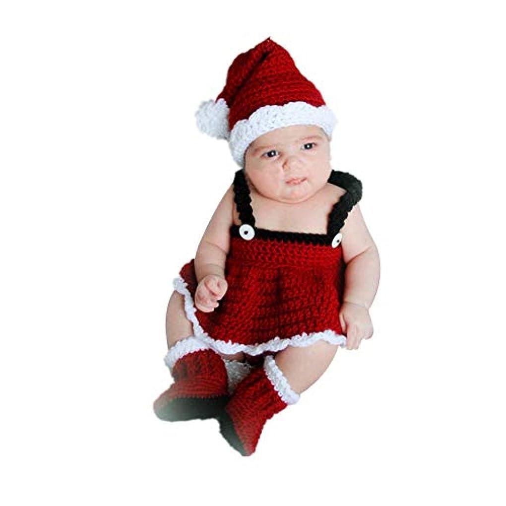 軽蔑預言者拒絶するサンタクロース服 新生児コスチューム 記念写真服 赤ちゃん用品 クリスマス撮影道具 帽子つき ベビー ロンパース カバーオール 満月/出産祝い/プレゼント