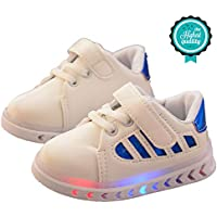 Morbuy Sport Baby Shoes, Unisex Sneakers Flat Running Walking LED Light Casual Leather Children's Shoes