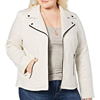 Style & Co Plus Size French-Terry Moto Jacket