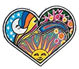 Dan Morris Night / Day Heart PATCH, Iron-On / Saw-On, Carded &Packaged Indiv