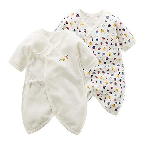 Mum&nny オーガニックコットン 新生児肌着 コンビ肌着 2枚セット ベビー服インナー 出産祝い 春夏秋冬