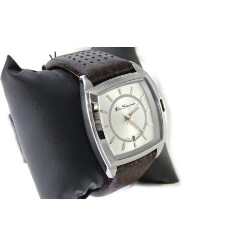 Ben Sherman ベンシャーマン 腕時計 シルバーフェイス アナログ 本革 レザーベルト ウォッチ r044