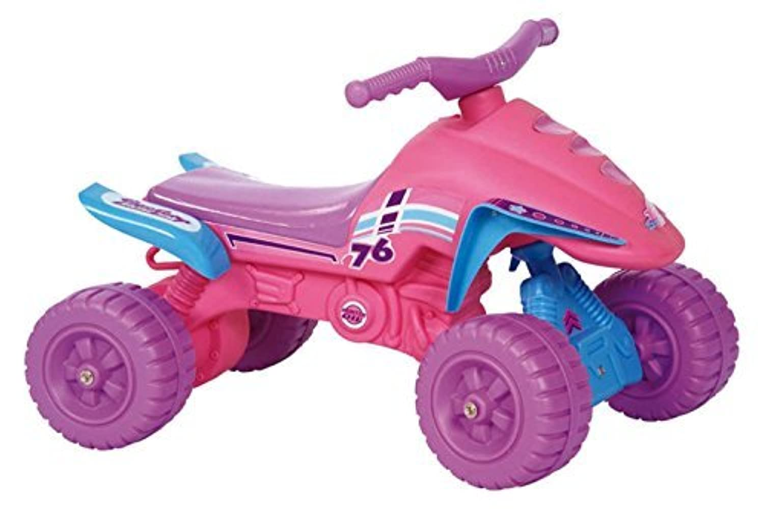 POCO DIVO Pink Ride-on ATV Low-seat Toddler Indoor/Outdoor Scooter Princess Riding Toy Girls Motorcycle [並行輸入品]
