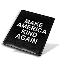 ブックカバー9x11 In Make America Kind Again ブックカバー 文庫 コンサイス 皮革調 手作り手帳 日記帳 システム手帳 アンティーク ブックカバー 詰め替えレザートラベルジャーナル執筆日記 卒業記念品
