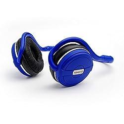 Kinivo BTH240限定版Bluetoothステレオヘッドフォン - ワイヤレス音楽ストリーミングとハンズフリー通話に対応 ポッシュピンク) (クールブルー)