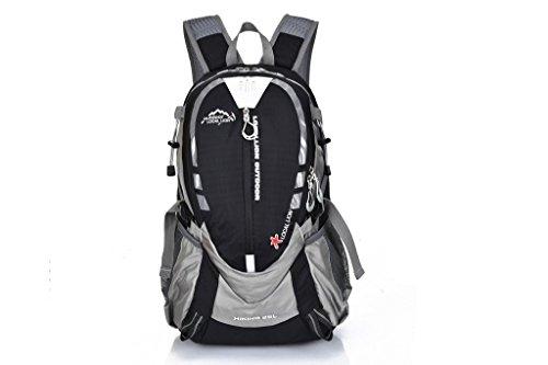 パラディニア(Paladineer) ハイキングバックパック 軽量 ナイロン製  ブラック 25L