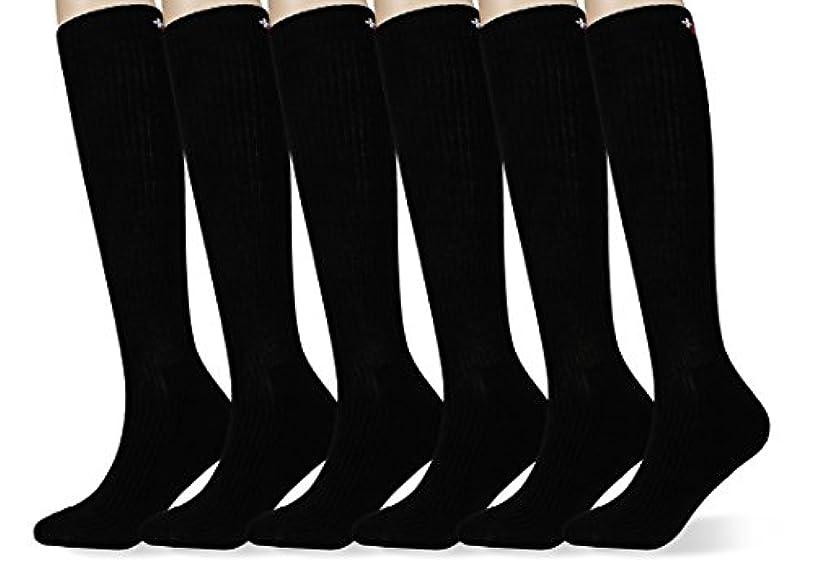 組み合わせるワイド群集MD 6足入れ 男女製品 緩衝小足のストレスソックス黒23cm-27.5cm